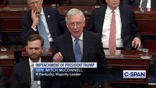 Senate Majority Leader Miтch McConnell on Articles of Impeachment