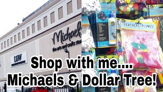 Shop with me Michaels & Dollar Tree | Planning With Eli