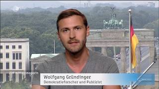 """Wolfgang Gründinger im ZDF: """"Merkel bedeutet Stillstand"""""""