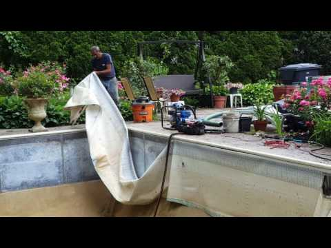 Pool Liner Replacement:  How they do it.