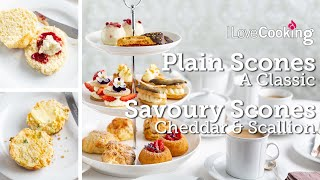 Afternoon Tea Scones with Chef Shane Smith | Classic Plain | Cheddar & Scallion Savoury Scones