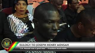 Eulogy to Joseph Henry Mensah