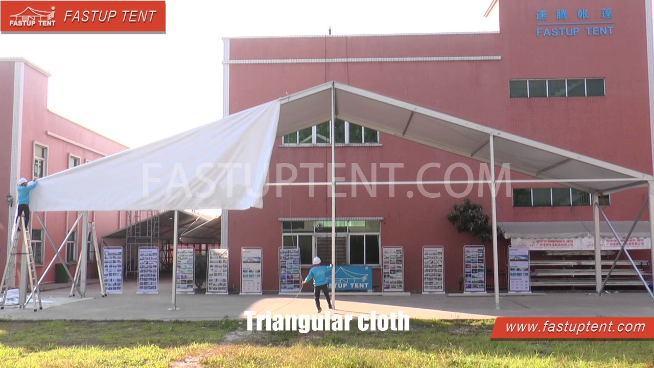 How to install 20m 25m 30m aluminum frame clear span marquee tent for wedding party events ? & How to install 20m 25m 30m aluminum frame clear span marquee tent ...