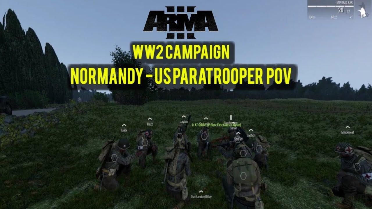 ARMA 3 - WW2 CAMPAIGN - Normandy - US Paratrooper POV