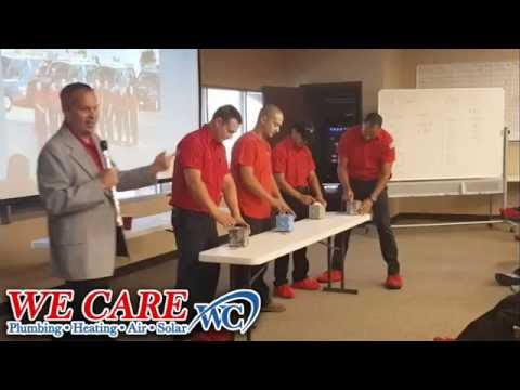 We Care Plumbing Heating Air and Solar - Tissue Pulling Contest