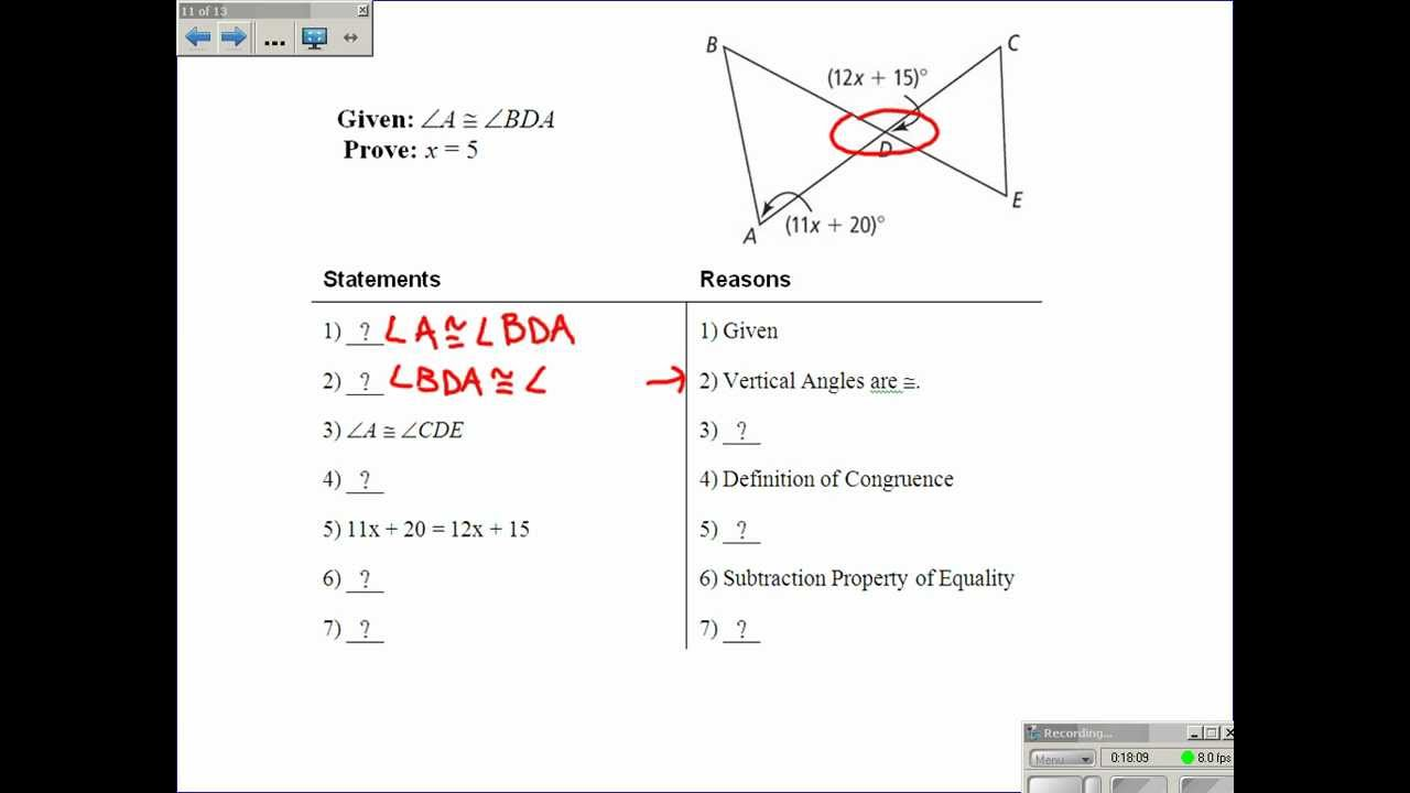 2 6 Proving Angles Are Congruent