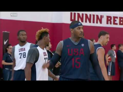 Carmelo Anthony Mic'd up | Team USA Basketball Training | July 19, 2016