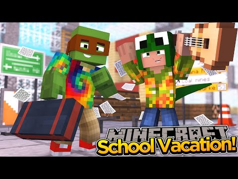 Minecraft School Vacation - TINY TURTLE WON THE LOTTO
