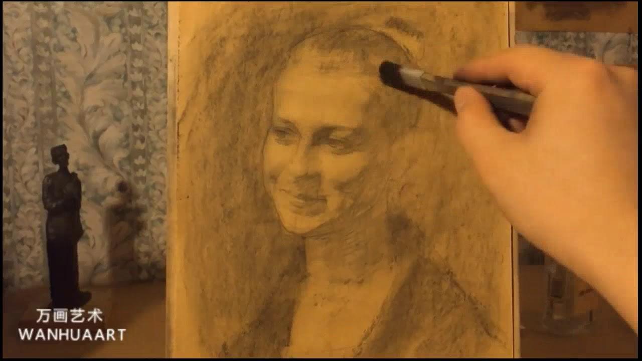 WANHUAART|万画艺术/传统素描肖像的画法《爱笑的尤利娅》