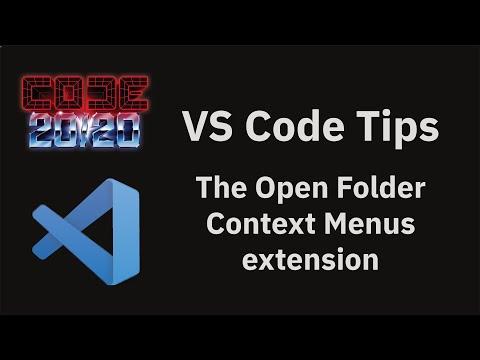 The Open Folder Context Menus extension