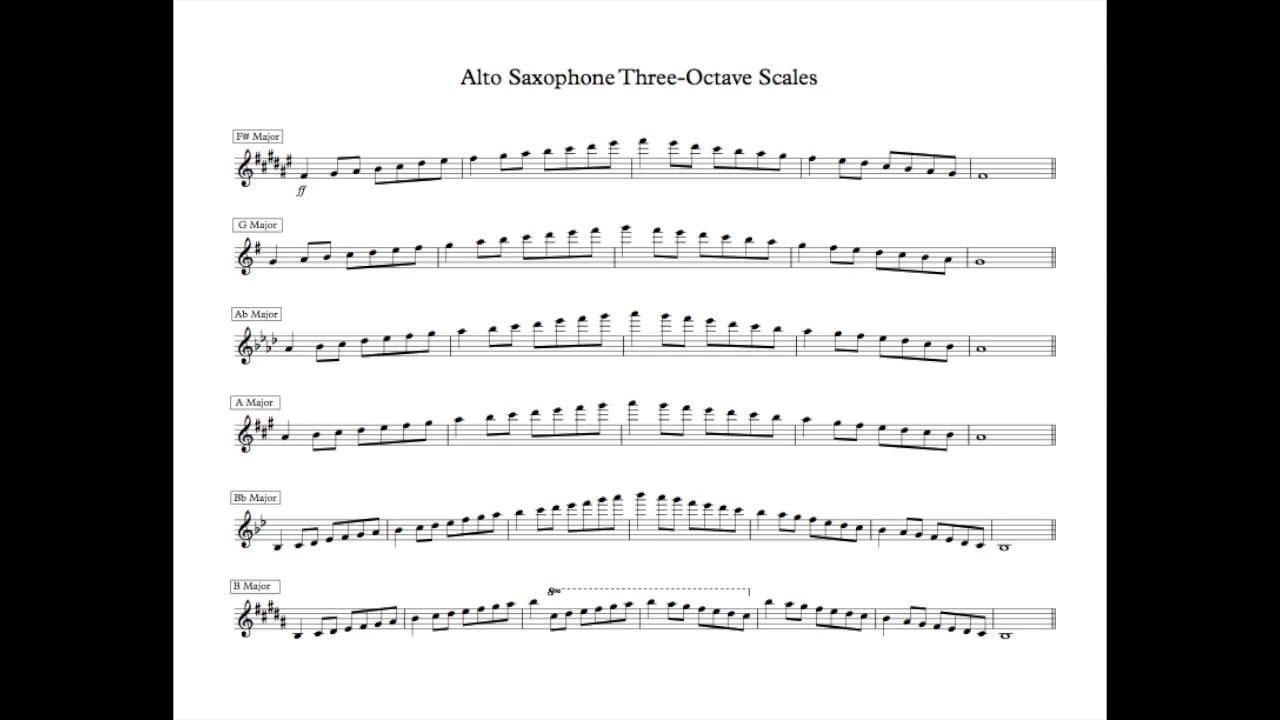 saxophone scales