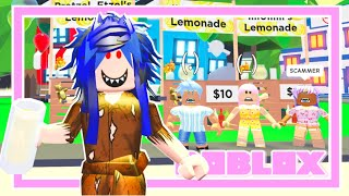 She SCAMMED Every Lemonade Stand In Adopt Me! (Roblox Roleplay Story) Adopt Me
