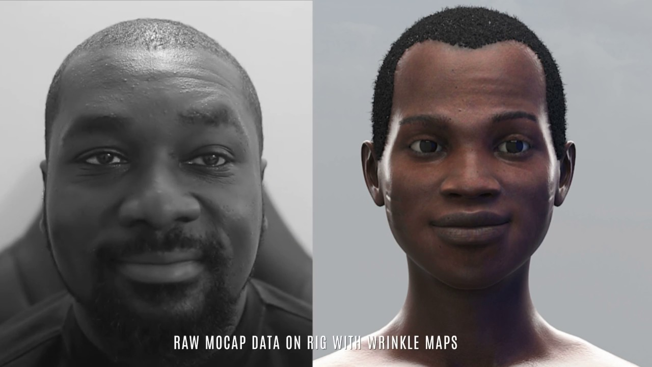 Facial motion capture data