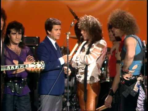 Dick Clark Interviews Bon Jovi- American Bandstand 1984