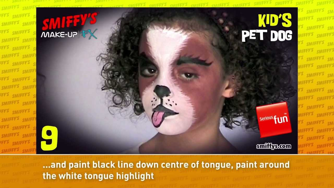 Dog Face Painting Make Up Tutorials For Children Youtube