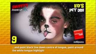 Dog Face Painting Make-up Tutorials for Children Thumbnail
