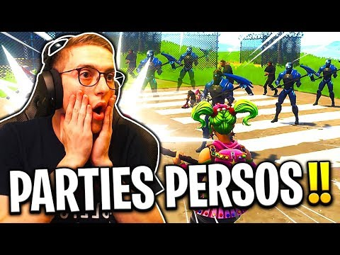 On JOUE en *PARTIES PRIVÉES* sur Fortnite : Battle Royale