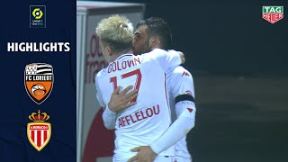 FC LORIENT - AS MONACO (2 - 5) - Highlights - (FCL - ASM) / 2020-2021