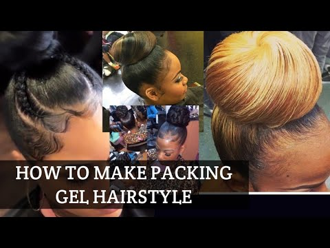 How To Make Packing Gel Hairstyle Tutorials Different Method Part 1 Youtube