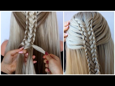 Twisted Edge Fishtail Braid Half Up, Hair Tutorial by Another Braid