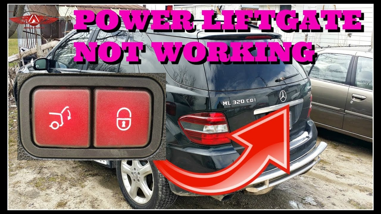 medium resolution of mercedes benz ml320 cdi power liftgate not working