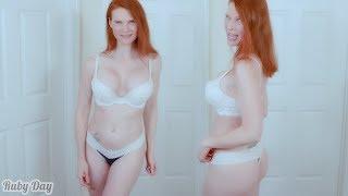 Lace Lingerie Underwear Set Curvy Try On Victoria's Secret