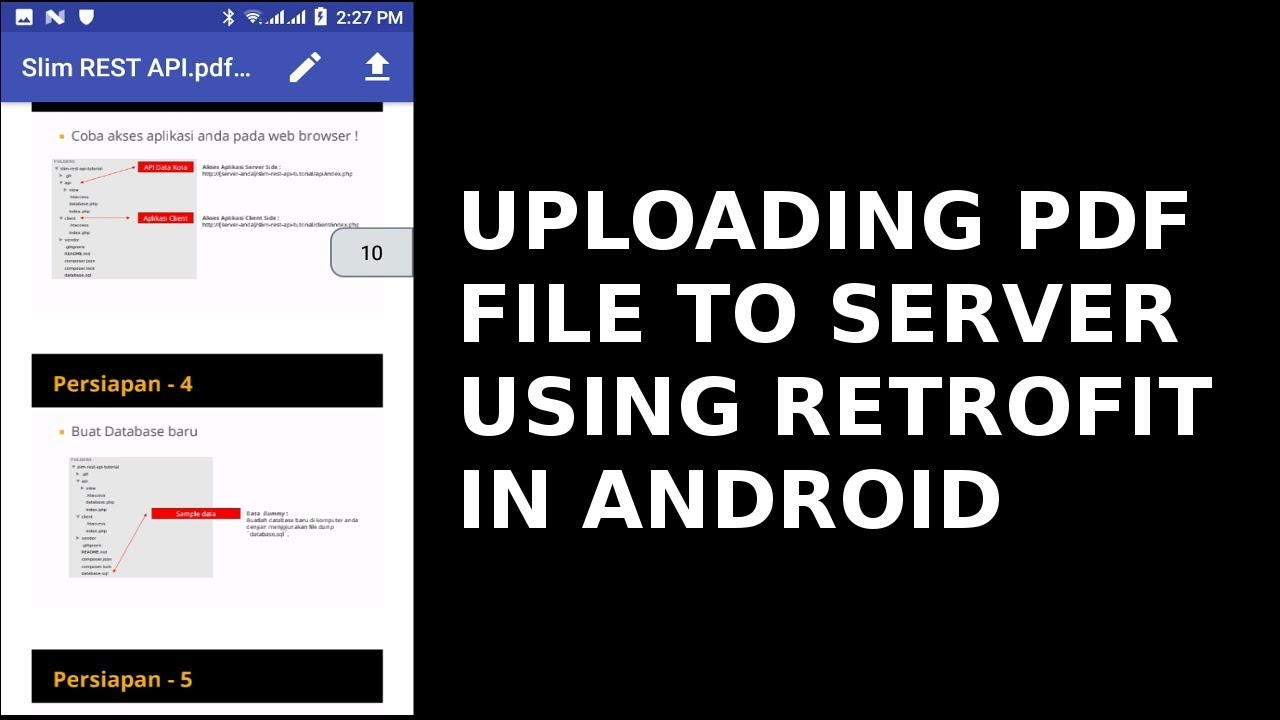 UPLOADING PDF FILE TO SERVER USING RETROFIT IN ANDROID