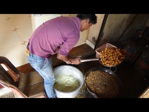 Indian / Chinese Street Food Manchow Soup, Manchurian & Chilli Paneer at Om Punjabi, Bardoli, India