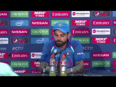 Stupid Question by Pakistani reporter in Broken English Made Virat Kohli Angry | INDIA VS PAK 2017