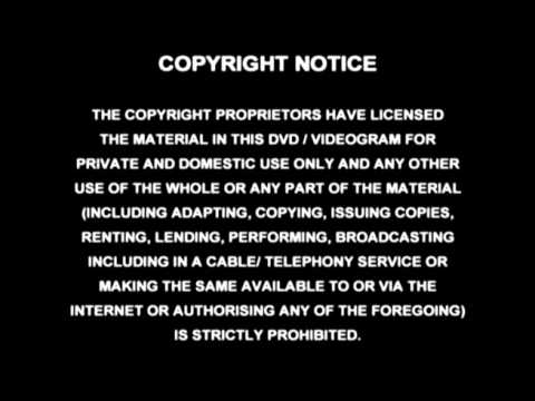 Copyright Notice 2002 Warning Screen - YouTube