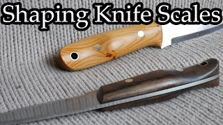 Knife handle shaping