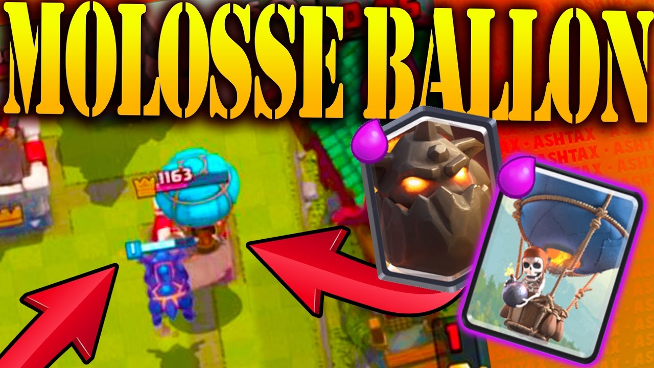 Deck molosse ballon facile a jouer clash royale youtube for Clash royale deck molosse