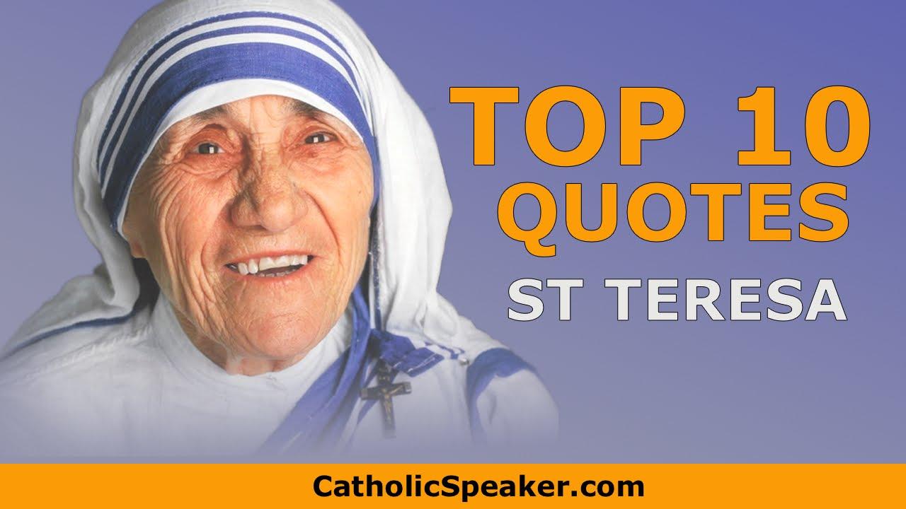 Mother Teresa Quotes Catholic Speaker Ken Yasinski Inspirational