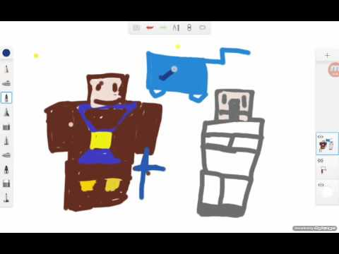 Cristian draws DanTDM and mr duck and mr pig