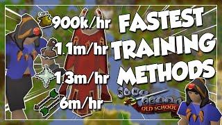 The FASTEST Training Methods For Every Skill - OSRS Exp/hr Speedrun!