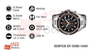 CASIO Watch EDIFICE EF-539D-1A9V ساعه يد رجالى كاسيو MnBetak.com Official Video