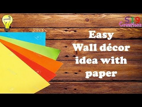 Wall decor idea with paper | paper craft ideas for room decoration | easy diy home decor
