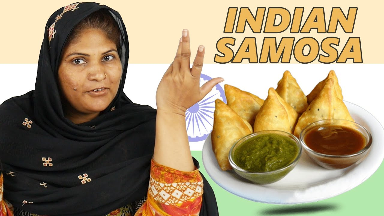 Tribal Women Try Indian Samosa | {Local Snack}