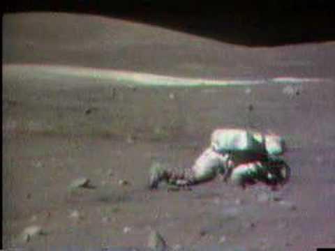 Charlie Duke on the moon