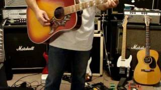 Vintage Gibson Copy 1970s Lyle Guitar Hummingbird Model W-460
