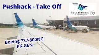 Gambar cover Garuda Indonesia Pushback-Take Off GA 176 PK-GEN Jakarta