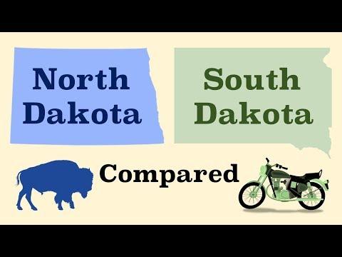 North Dakota and South Dakota Compared