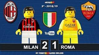 Milan vs Roma 2-1 • Serie A 2018/19 • Sintesi 31/08/18 • All Goal Highlights Lego Football