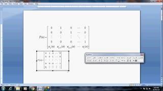 Comment taper plus grande matrice de taille 5 par 5 dans MS word