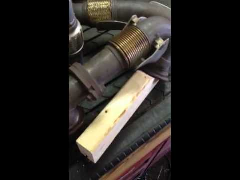 6.0 turbo flex pipe up pipe fix ford powerstroke - YouTube