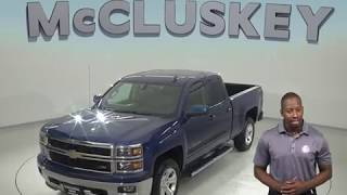G97778TA Used 2015 Chevrolet Silverado 1500 LT 4WD Blue Test Drive, Review, For Sale -