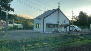 函館本線(普通列車)車窓[2/2]倶知安→余市/ H100形(DECMO)ニセコ1756発(小樽行)