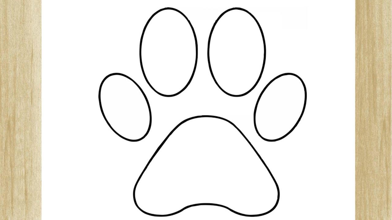 Como Desenhar Uma Patinha De Cachorro Facil Youtube