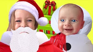 Baby song - Who Is Santa 🤶🏻 Christmas Songs for kids with child Maya and Little baby Mary