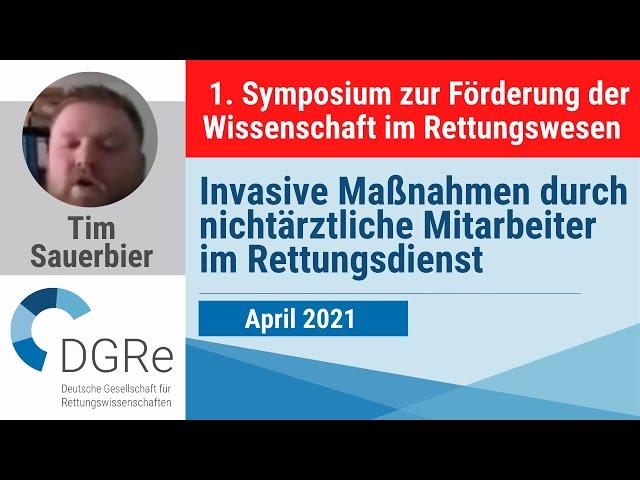 Tim Sauerbier: Invasive Maßnahmen durch nichtärztliche Mitarbeiter im Rettungsdienst